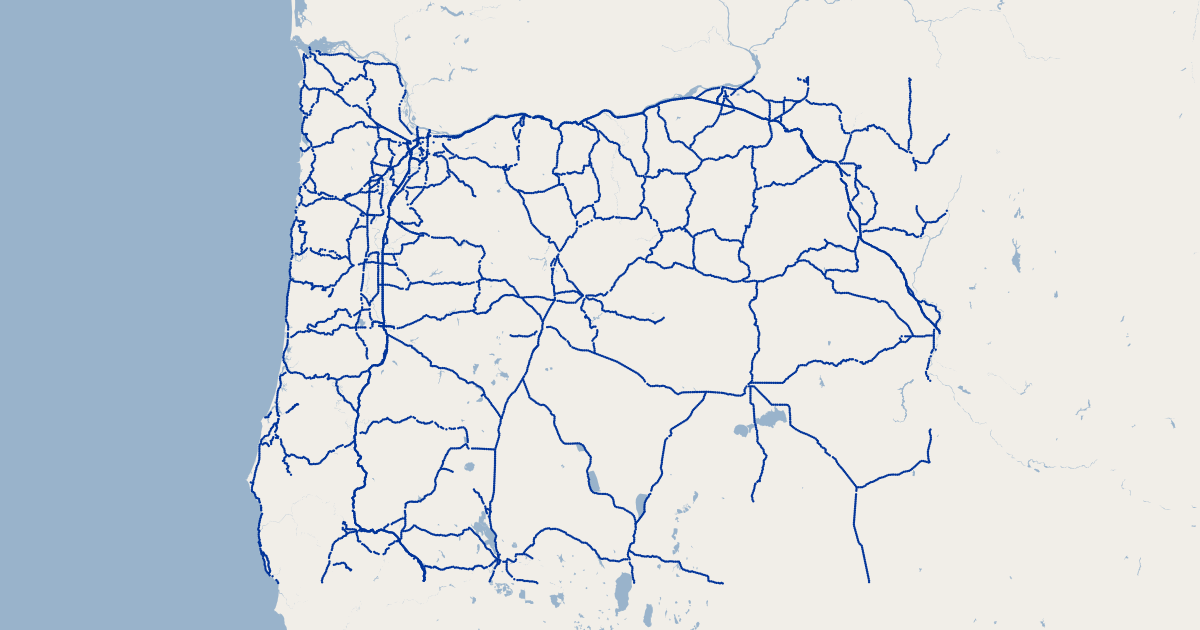 Us 97 Milepost Map Oregon Highway Mileposts | GIS Map Data | State of Oregon
